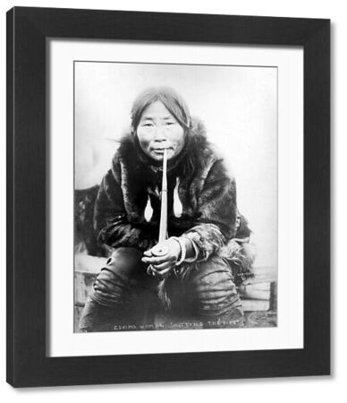 ESKIMO WOMAN IN ALASKA.   Photographed in 1904