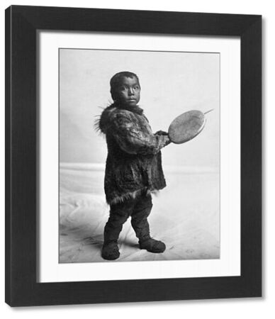 ESKIMO CHILD, c1905.   Eskimo child wearing traditional fur clothing in Nome, Alaska. Photographed by the Lomen Brothers, c1905