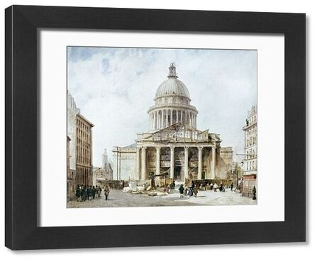 PARIS: PANTHEON, 1835.  The Pantheon in the Latin Quarter of Paris, France, completed in 1789. Painting by Fran?ois Villeret, 1835