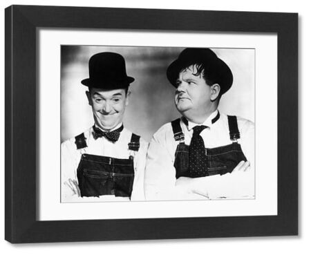 LAUREL AND HARDY.  Stan Laurel (left) and Oliver Hardy