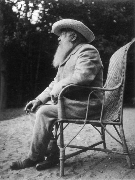 CLAUDE MONET (1840-1926).  French painter. Photographed by Sacha Guitry, n.d