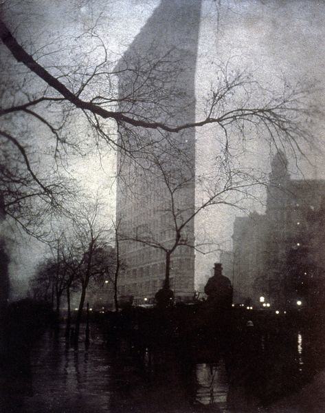 NEW YORK: FLATIRON, 1905.  Flatiron Building, New York City: photograph, 1905, by Edward Steichen