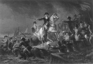 (1732-1799). General George Washington directing the retreat to New York, August 30