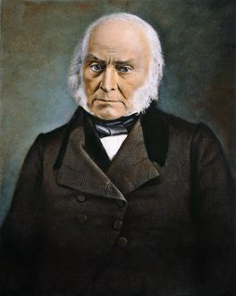 (1767-1848). 6th President of the United States. Oil over a daquerrotype, c1845.
