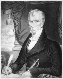 (1773-1841). Ninth President of the United States