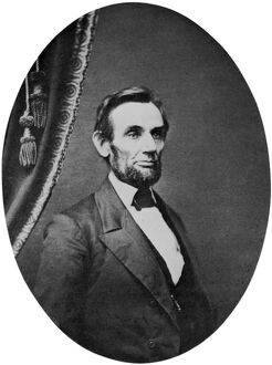 (1809-1865). 16th President of the United States. Photographed by C.S. German in Springfield