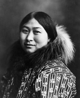 ALASKA: ESKIMO, c1907. Eskimo woman, Nome, Alaska. Photographed by the Lomen Brothers