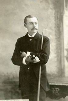 The American billiards champion, c1890: photograph