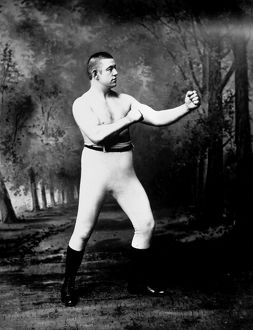 American heavyweight pugilist. Photographed c1885