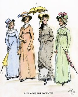 AUSTEN: PRIDE & PREJUDICE. Mrs. Long and her nieces