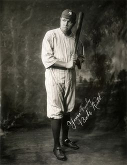 Babe Ruth in a publicity photograph, 1920