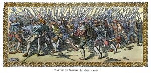 BATTLE OF SAINT GOTTHARD. The Battle of Mount Saint Gotthard during the Austro Turkish War