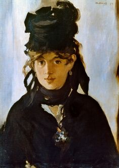 BERTHE MORISOT (1841-1895). French painter. Oil on canvas, 1872, by Edouard Manet.