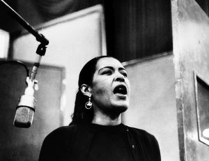 BILLIE HOLIDAY (1915-1959). American jazz singer and songwriter