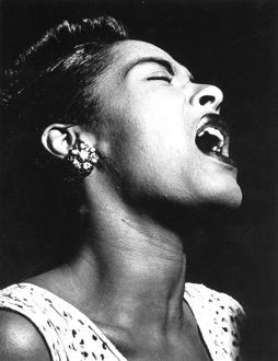 BILLIE HOLIDAY (1915-1959). American singer. Photographed in 1948.