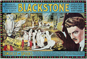 BLACKSTONE: POSTER, c1920. American poster of magician Harry Blackstone, 'Congress of Spooks