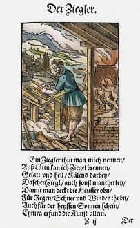 BRICKMAKER, 1568. Woodcut, 1568, by Jost Amman