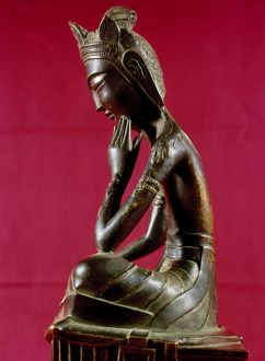 Bronze statue of Buddha of the Future, called Miroku. Japanese, c606 A.D.