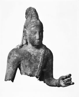 Bust of a Bodhisattva. Bronze, Eastern Chalukya style, from Andhra Pradesh, India, c700.