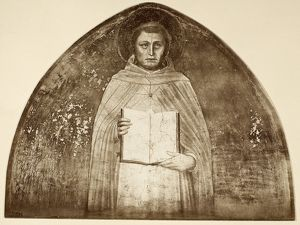 (c1225-1274). Italian scholastic philosopher. Fresco by Giovanni da Fiesole, known as Fra Angelico