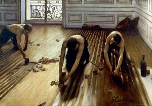 CAILLEBOTTE: PLANERS, 1875. The Floor Planers. Oil on canvas by Gustave Caillebotte.
