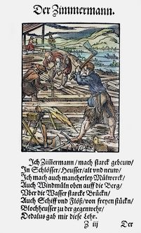 CARPENTERS, 1568. Woodcut, 1568, by Jost Amman