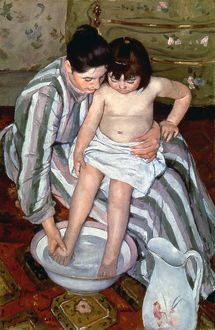 CASSATT: THE BATH, 1891-2. Oil on canvas by Mary Cassatt.