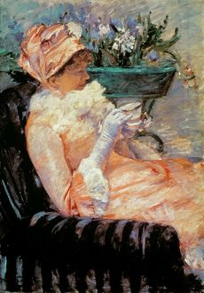CASSATT: CUP OF TEA, 1879. Oil on canvas by Mary Cassatt.