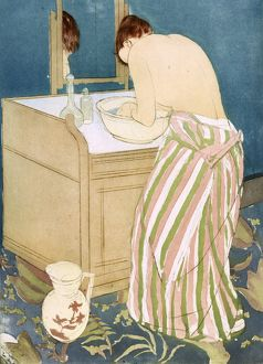 CASSATT: TOILETTE, 1891. 'La Toilette' Drypoint and aquatint by Mary Cassatt, 1891