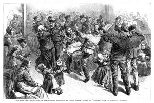 CASTLE GARDEN: DANCE, 1882. Newly arrived immigrants celebrating and dancing at