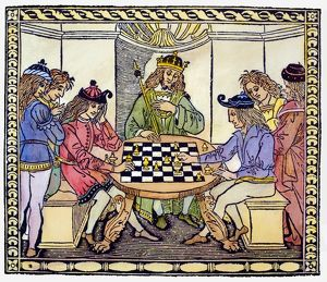 CESSOLIS: CHESS, 1493-94. Woodcut frontispiece to Jacobus de Cessolis' 'Libro di