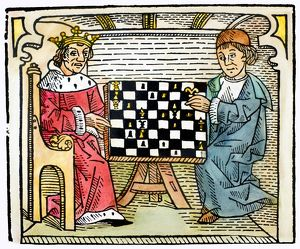 CESSOLIS: CHESS, c1483. Woodcut from Jacobus de Cessolis' 'The Game and Playe