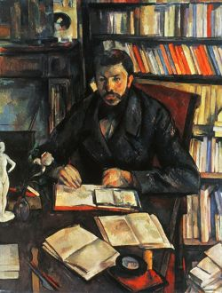 CEZANNE: GEFFROY, 1895-96. Paul Cezanne: Portrait of Gustave Geoffroy. Oil on canvas