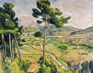 CEZANNE: ST. VICTOIRE, 1885. Paul Cezanne: Mont Sainte-Victoire. Oil on canvas, 1885-87.