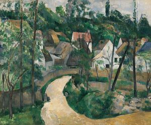 CEZANNE: TURN IN THE ROAD. Oil on canvas, Paul Cezanne, c1881