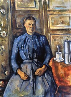 CEZANNE: WOMAN, 1890-95. The Woman with Coffee Pot. Oil on canvas by Paul Cezanne
