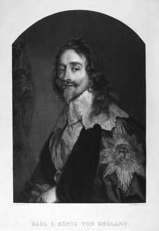 CHARLES I (1600-1649). King of Great Britain and Ireland, 1625-1649
