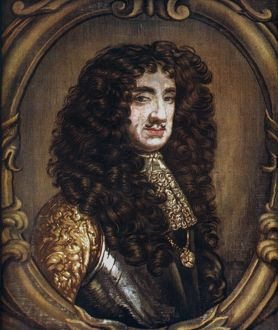 CHARLES II (1630-1685). King of England, 1660-1685. Tapestry, late 17th century