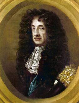 CHARLES II (1630-1685). King of England, 1660-1685. Oil painting by Sir Peter Lely