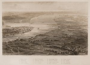CHARLESTON, 1863. View of Charleston, South Carolina, and its vicinity