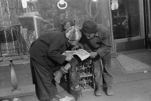 CHICAGO: CHILDREN, 1941. African American children reading a comic book together
