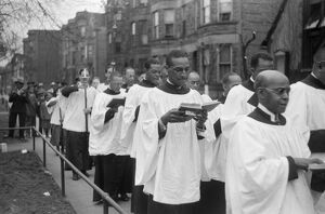 CHICAGO: EASTER PROCESSION. Easter procession outside of a church on the South Side