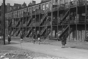 CHICAGO: SOUTH SIDE, 1941. Apartment buildings on the South Side of Chicago, Illinois