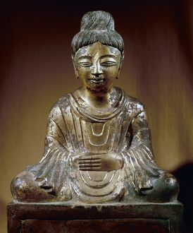 CHINA: BRONZE BUDDHA.