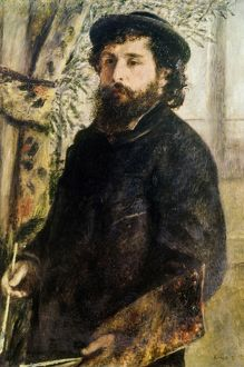 CLAUDE MONET (1840-1926). French painter. Portrait of Claude Monet by Pierre-Auguste Renoir
