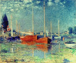 CLAUDE MONET: ARGENTEUIL. Oil on canvas.