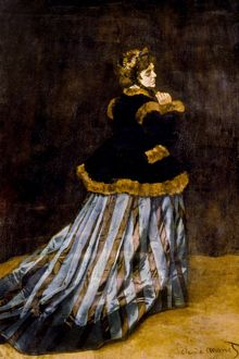 CLAUDE MONET: CAMILLE, 1866. Oil on canvas.