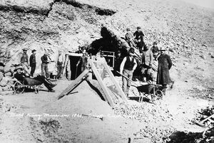 COLORADO: GOLD MINERS, 1893. Miners posing outside the entrance to the Gold King