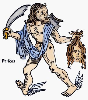 CONSTELLATION: PERSEUS. Personification of Perseus