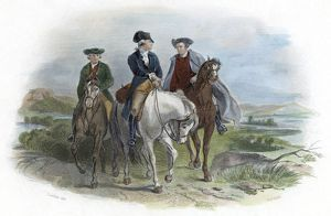 CONTINENTAL CONGRESS, 1774. George Washington, Patrick Henry, and Edmund Pendleton